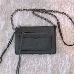 Rebecca Minkoff Gray Blue Suede Avery Bag